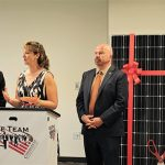 """State Rep. Johnathan Steinberg serving Westport; State Rep. Laura Hoydick serving Stratford; State Rep. Joseph Gresko serving Stratford. Steinberg, Hoydick and Gresko all serve on the Energy Commission and praised CDI for its green efforts. """"This is exactly the kind of project we dream about,"""" said State Rep. Hoydick."""