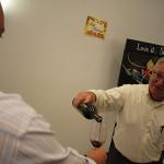 Worldwide Wines' Regional Manager Matt Wimberger pouring.