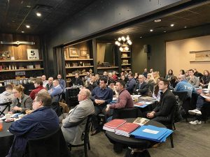 Connecticut Restaurant Association members attending a Wage & Compliance seminar at the Wood 'N Tap in Newington on January 27.