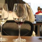 Trump Winery's 2014 Chardonnay and 2013 Meritage samples.