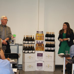 Tom Talmadge, Business Manager of Wines, CDI, with Ashley Rutter, Wholesale Manager, Trump Winery, presenting Trump Wines to the CDI sales force.