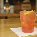 """The """"Connecticut Cosmopolitan,"""" featuring newly launched seasonal flavor Wild Moon Cranberry, vodka, maple syrup, white cranberry juice, Cointreau and RIPE lemon sour."""