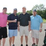 Wayne Barclay, Texas Roadhouse; Trevor Lemins, Texas Roadhouse; Tom Mancini, Millercoors; and Tommy Dowd, Millercoors.