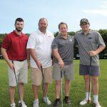 Tom Mulqueen, Hammonasset Package Store; Paul Gagliardi, Anheuser-Busch; Eric Braumann, Anheuser-Busch; Danny Braumann.
