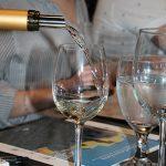 A Catena Zapata Chardonnay wine pour.