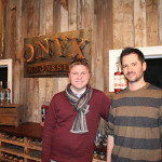 Co-owners of Onyx Spirits Company, Adam von Gootkin and Pete Kowalczyk, during their opening on November 20, 2015.