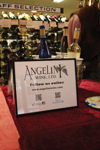 Angelini Wine display.