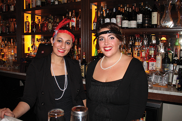 Bartenders Faye Suma and Tess Ashcroft dressed for the Repeal Day celebration at Roia Restaurant in New Haven.