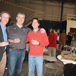 """Co-Owners of Waypoint Spirits Doug Bowie, John Taylor and David Rossi during the """"East Meets West"""" Bloody Mary Competition."""