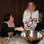 Stephanie Guido with Lauren O'Reilly of Brescome Barton preparing their Hendrick's Gin Punch.