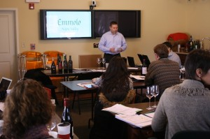 Dan Campbell presenting to the Winebow sales team.