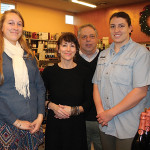 Employees Casey Kern, Jennifer Hill, Owner Ira Smith, and Anna Lindenmayer.