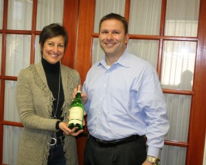 Susan McQuade Brand Manager at Winebow with Dan Campbell, Regional Manager New England of Wagner Family of Wine.