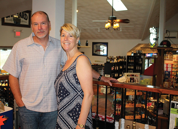 Dan Healey, owner and Tracie Wiggins, store manager.