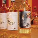 A selection of white wines sampled, the Kentia 2013 and Honoro Vera Blanco 2014.