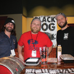 All from Oxford's Black Hog Brewery: Tyler Jones, Head Brewer; Tim Phelps, Sales; Stuart Slocum, Head of Sales.