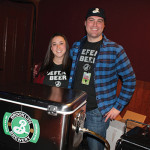 Nicole Lattanzio with John Williams, Sales Representative CT and Western MA, Brooklyn Brewery.