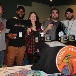 All from Stony Creek Brewery: Andy Schwartz, Brewmaster; Jamal Robinson, Director of Sales; Amy Tenenbaum, Sales Representative; Julian Crespo, Sales Representative; and Sean Juilano, Sales Manager.