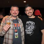 Brett Hollander, Marketing and Craft Beer Sales Manager, Hartford Distributors, Inc. with Justin Morales, Bar Manager, Infinity Music Hall and Bistro.