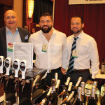 Stefano Cozza of Anno Domini Vineyards and Tom Bac Co with Alex Sirico and Matt Sirico of CW Distributors of New York.