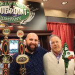 Eric Levine and Mike Rosen of Levine Distributing Company at the beer festival, upstairs from the wine tasting.