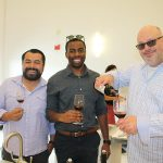 All from Wine Wise in Greenwich: Andres Farfan, Tyrone Taylor and Steve Millhouse.