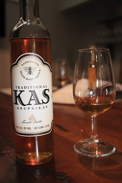 The small batch, handcrafted krupnikas is made from locally-sourced New York honey, along with a mixture of 10 spices including star anise, cinnamon, cardamom and many others.
