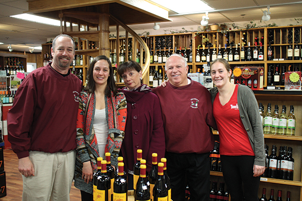 Steve Clegg, Store Manager; Allison Dufault, Employee; Elizabeth Geaber; George Geaber, Owner; and Megan Wright, Employee.