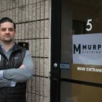 Matt Murphy, President, Murphy Distributors, outside the new location on 25 Business Park Drive in Branford.