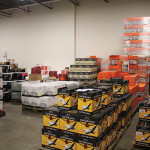 Inside Murphy Distributors' new warehouse space on Business Park Drive.