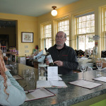 Jim Jerram hosting a wine tasting.