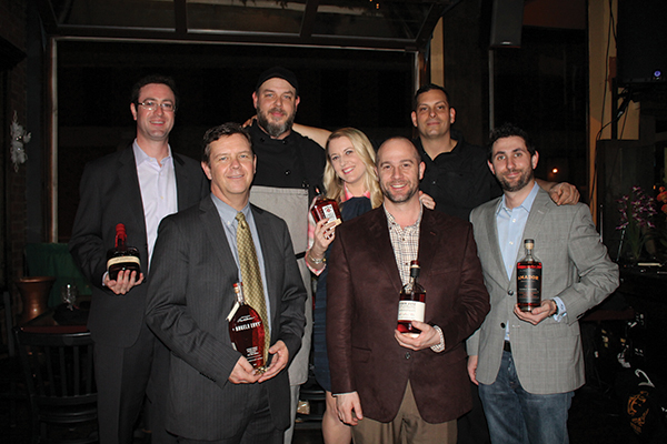 Back Row: Mike DePasqua, Connecticut Territory Manager, Beam Suntory; Chef Bruce Riley, Mezzo Grille and Bar; Nadine Gengras, Account Development Specialist Spirits, CDI; Joe Aceto, Bar Manager, Mezzo Grille and Bar. Front Row: Kevin Hickey, State Manager, Bacardi/Angels Envy; Jeremy Doyle, Account Development Specialist Trinchero Family Estates, CDI; Michael Gilbert, CSS and Division Manager Empire Central, Trinchero Family Estates.