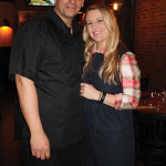 Joe Aceto, Bar Manager, Mezzo Grille and Bar with Nadine Gengras, Account Development Specialist, Spirits, CDI.