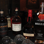 A selection of spirits paired with food for the bourbon dinner.