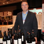 Robert Carbone, Regional Manager Metropolitan NY and CT, C. Mondavi & Family, pouring Charles Krug wine to taste.