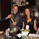 Sebastien Derbomez, Brand Ambassador, Hendricks Gin; Irene Rezman, Vine Ventures.