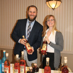 David Mensch and Alycia Sandmeier, Sales Representatives, Slocum & Sons with High West Whiskey.