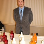 Chad Frazier, Marketing and Merchandising, Slocum & Sons with Forbidden cream liqueur.