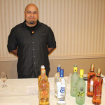 Efrain Vezquez, Merchandising, Slocum & Sons with Defiant Whisky and Don Q Rum.