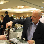 Wally Crumb, CFO, Slocum & Sons pouring.