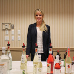 Jillian Boone, East Coast Regional Sales Manager, A. Hardy USA with Thatcher's Organic Vodka and Brown Jug Bourbon.