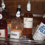 A selection of rosé wines.