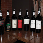 A selection of red wines.