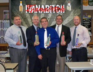 Left to right: Nick Gerard, Sales Rep.; Chip Flanders, National Sales Manager; Brian Cass, Sales Rep.; John Kerley, Brand Manager; and Joe Imperia, Sales Rep.