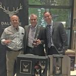 John Gasbarro, Oaklawn Liquors in Cranston; Keith Miranda, President, Johnson Brothers of RI; and Bill Powers, E. & J. Gallo Winery/The Dalmore/Jura.