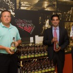 Steve Drew, Business Manager, CDI; Marco Pelliccio, State Manager, Beam Suntory; Steve Baye, Vice President of Business Management and Marketing, CDI with Jim Beam Apple.