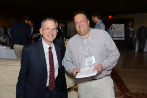 Scott Gerber, founding partner and senior vice president of Martin Scott Wines with John Caplan of Grapes of Norwalk.