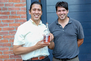 Rick Tapia, La Bodega Internacional (LBI) and Chris Martelly, Atlantic Distributing, Sales Representative. Based in Atlanta, LBI produces specialty, handcrafted, premium spirits, including J.R. Revelry Bourbon Whiskey.