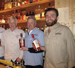 Jack Baker, Co-owner, Litchfield Distillery; Peter Baker, Co-owner, Litchfield Distillery; Neil Robinson, Bartender, Krust.
