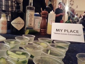 Janus Loves Cucumbers, the winning cocktail.